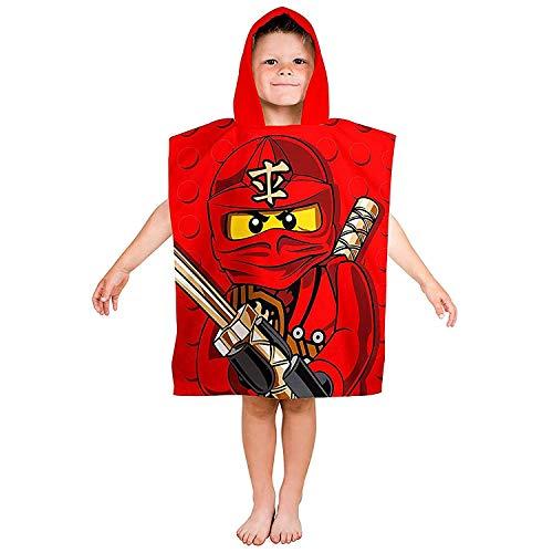 Saleandmore–Poncho infantil Lego Ninjago Rojo