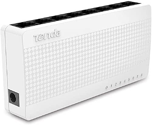Tenda S108 - Switch de Red con 8 Puertos (10 100 Mbps) Color Blanco