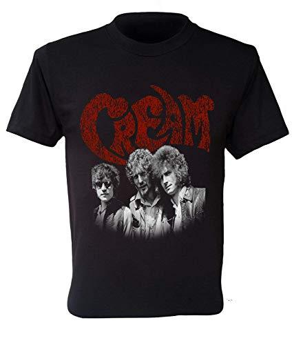 Cream T-Shirt 60S British Retro Vintage Men Clapton Bake Black XXL