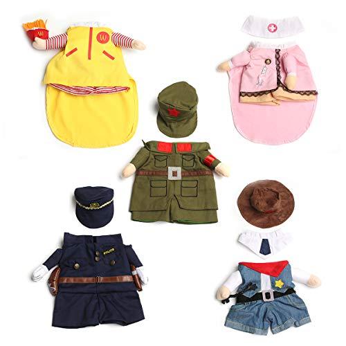 JBPX huisdier hond kat kleding 5 soorten huisdier kleding halloween cowboy soldaat verpleegkundige keizer kostuum pak voor partij jurk, S, Cowboy