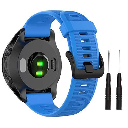 G-RF Bandas De Repuesto De Silicona con Herramienta De Extracción para Garmin Forerunner 945/935 Fenix ??5/6 Approach S62 / S60 Instinct Quatix 5 (Azul Marino)
