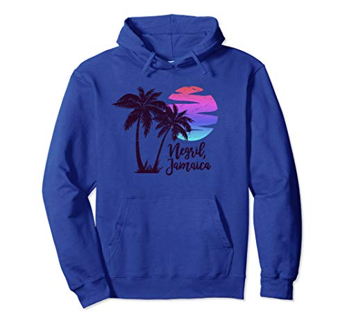 NEGRIL JAMAICA Beach Lover Gift Spring Break Cruise Vacation Pullover Hoodie