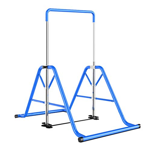 Dominadas Barras Paralelas Individuales Domésticas Barras Paralelas Individuales Multifuncionales Máquina De Fitness De Barra Horizontal Estructura Triangular (Color : Blue, Size : 107 * 200 * 220cm)