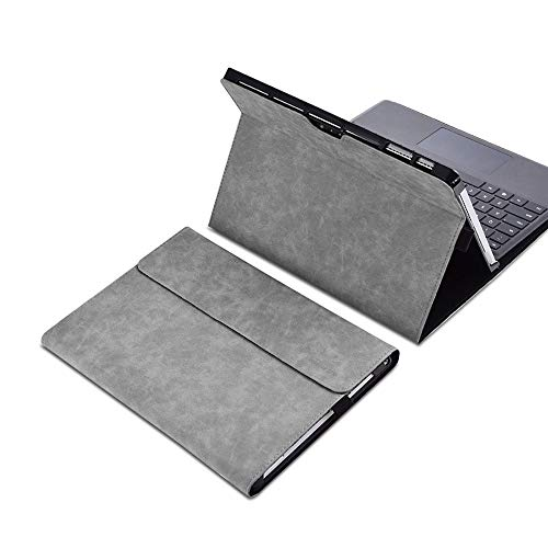"xisiciao Protective case for Surface Pro 7 / Pro 6 / Pro 5 / Pro 4 with Pen Holder, Multiple Angle Polyester Slim Light Shell Cover, Compatible with Type Cover Keyboard (12.3"", Gray)"