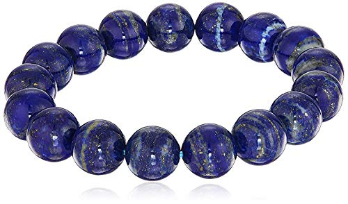 Smooth Round 12 mm Lapis Lazuli Stretch Bracelets, 8'