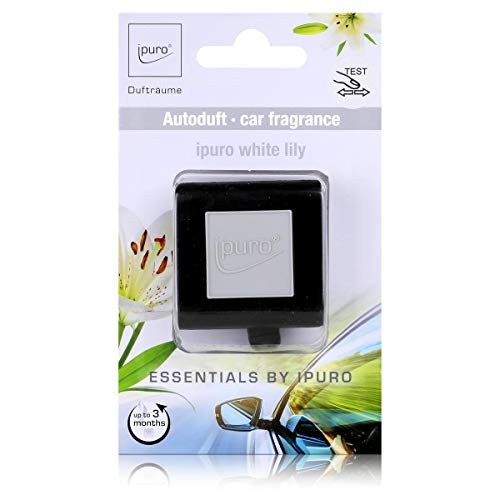 Essentials by Ipuro Car Line Autoduft white lily - Der reine Duft der weißen Blüte – ein blumig zartes Dufterlebnis (1er Pack)