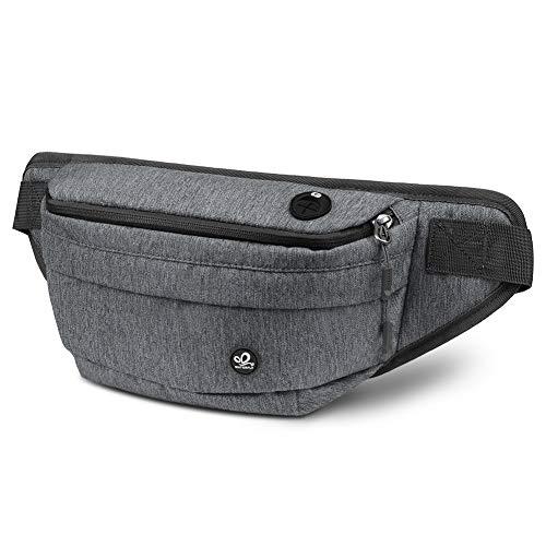 WATERFLY Bauchtasche für Damen und Herren Doggy Bag Gürteltasche Wasserdicht Hüfttasche für Wandern Radfahren Reise Sport