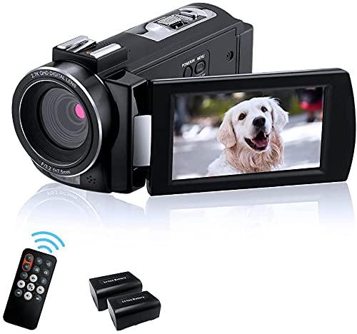 ORDRO AE7 ビデオカメラ デジタルビデオカメラ HD 1080P 30FPS IRナイトビジョン、リモコン付き、2個のバッテリー付き