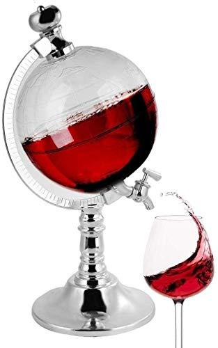 QZMX Decantador Decantador de Forma, dispensador de licores de 1.5L para Bourbon, escocés, Brandy, Whisky o Ron, Regalo de decoración de Barra de casa Decantador de Vino de Cristal