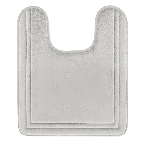 MICRODRY Quick Drying Memory Foam Framed Contour Bath Mat with GripTex...