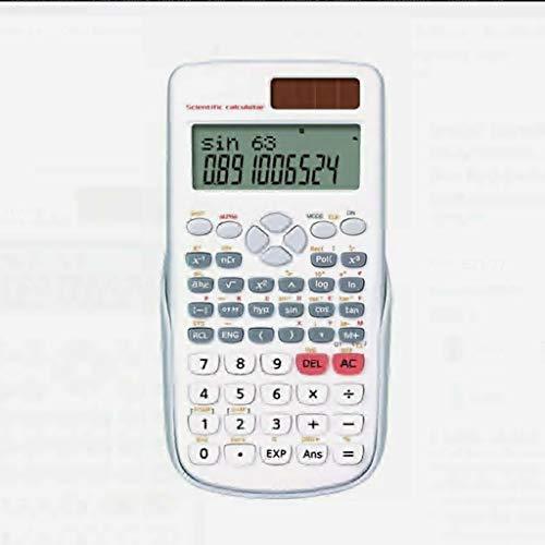 Draagbare calculator op zonne-energie, multifunctioneel, calculator, rekenmachine, mat, calculator wit