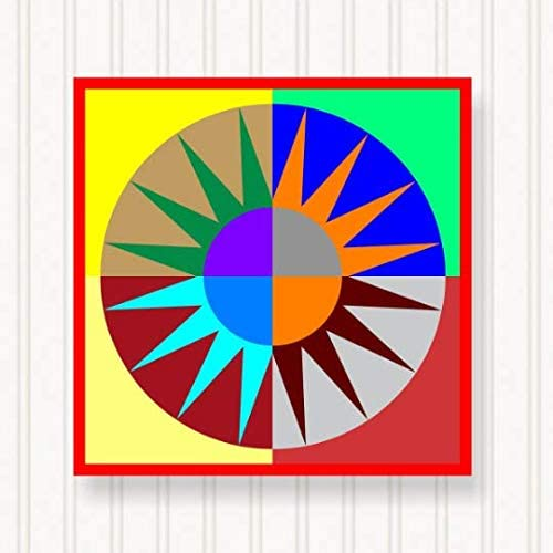 BQ002-03 Barn Quilt Outdoor Cheap mail order shopping Sign - Bright Colors Sizes 6 online shop Hea