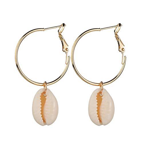 Ohrringe Frauen Für Den Abschluss Creolen GlücklicheAttraktive Sichere Übertrieben Muschel Romantische Ohrringe gold