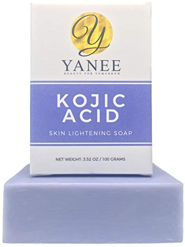 Kojic Acid Lightening Soap for Dark Spot 3.52 oz | Whitening Pure White Kojic Soap | Face and Body Uneven Skin Tone Treatment Soap