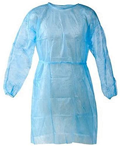 magent Isolation Gowns - Disposable, Non-Woven, La  te X Free, SplashResistant, E  lastic K  nit Cuff Gowns(Universal Quantity, 10 Per Case 150cm Long