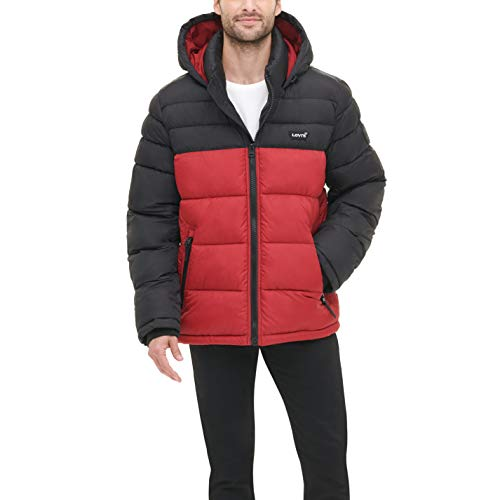 Levi's Men's Mid-Length Quilted Performance Hoody Puffer Jacket