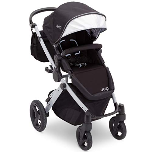 Jeep Sport Utility All-Terrain Stroller, Black on Silver Frame