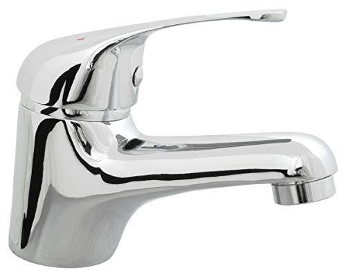 RAF - Grifo mezclador monomando para lavabo (cromo, sin desagüe)