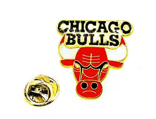 Gemelolandia | Pin de solapa NBA Chicago Bulls 27x25mm | Pines Originales y Baratos Para Regalar | Para las Camisas, la Ropa o para tu Mochila | Detalles Divertidos
