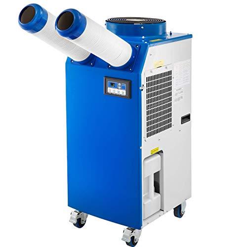 VEVOR Aire Acondicionado Portátil Industrial 2700W, Enfriador de Aire Portátil 9200BTU/H, Climatizador Portátil Silencioso 220V, Enfriador de Aire con Pantalla LCD,18-45℃, Climatizador Evaporativo