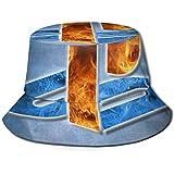フラットトップ通気性バケットハットユニセックススペースダイビングバケットハットサマーフィッシャーマンズハット-PlayStation-OneSize
