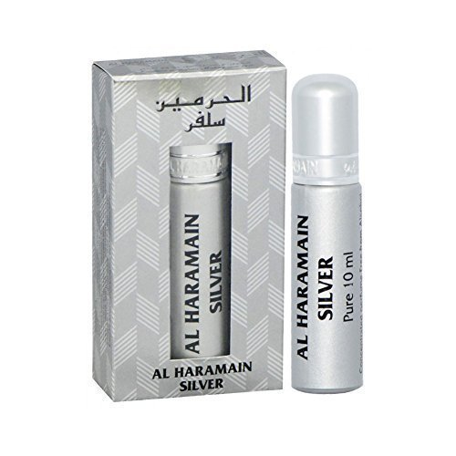 Prime Halal Parfum Arabe Attar Huile Al Haramain Sans Alcool Roll On 10 ML Various Parfums parfums - Argent, 10ml