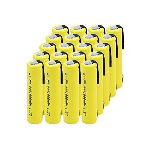 HTRN Batería AAA Ni-Mh De 1.2v 1000mah, Um4 R03 824 Am4 E92 K3a Fr03 Nd61r R03 con PestañAs para Control Remoto 20pcs