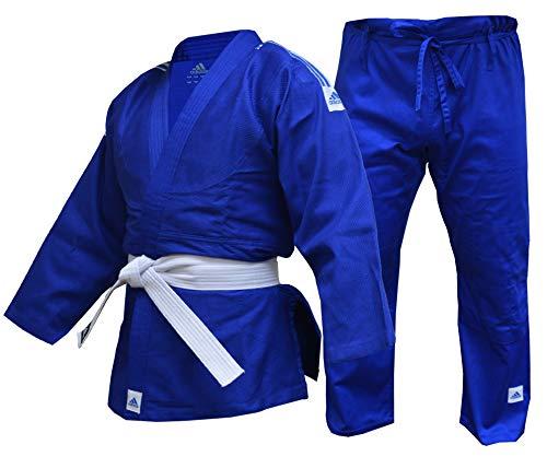 adidas Judo Blue Gi Anzug für Erwachsene, Kinder, Herren, Damen, 350 g, 110 120 130 140 150 160 170 180 190, 170 cm