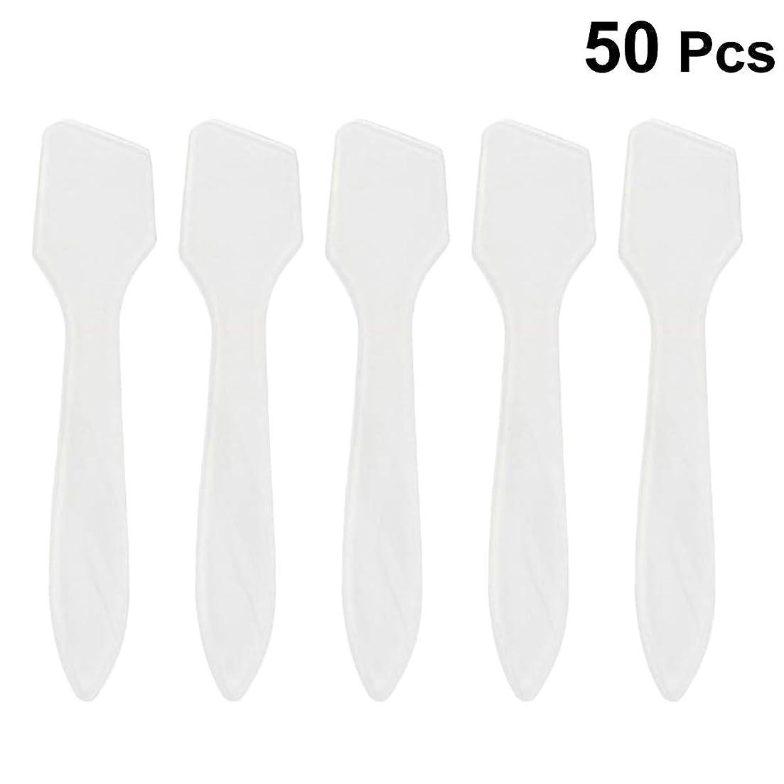 扱うロードハウスインサートSUPVOX 50ピース化粧品スキンケアフェイスクリームマスク混合ヘラアプリケータツール