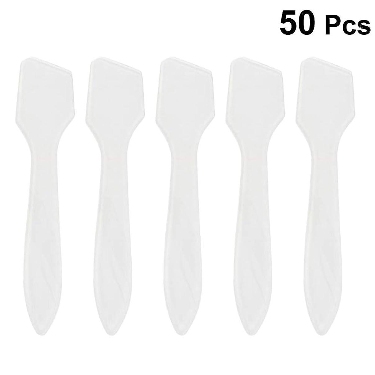 被る生まれワークショップSUPVOX 50ピース化粧品スキンケアフェイスクリームマスク混合ヘラアプリケータツール