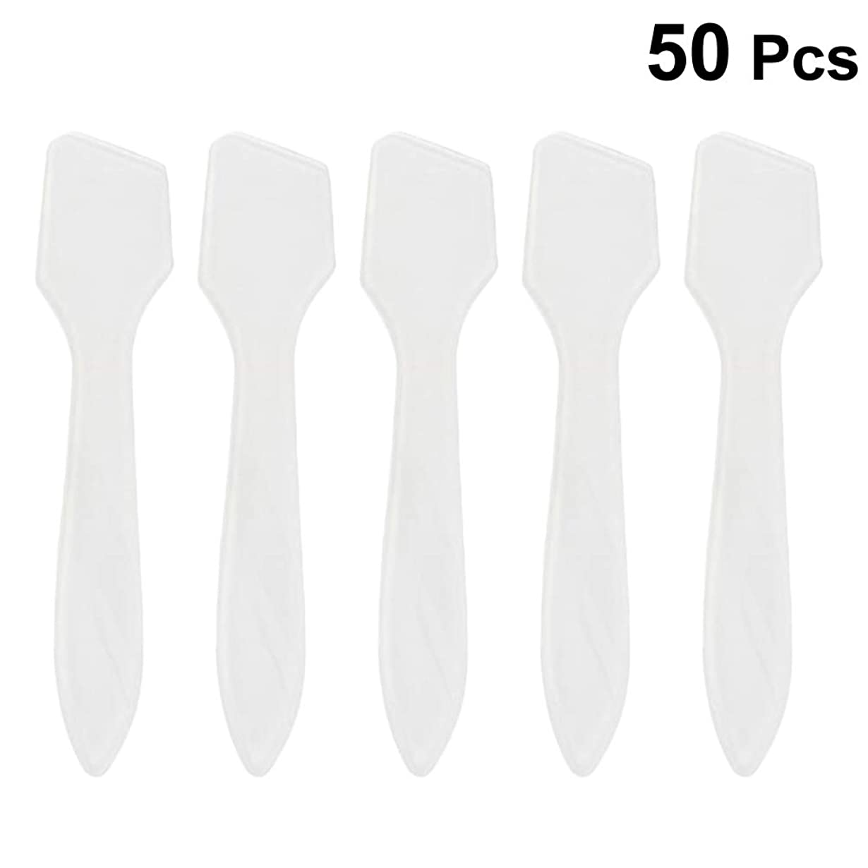 小麦粉明快教室SUPVOX 50ピース化粧品スキンケアフェイスクリームマスク混合ヘラアプリケータツール