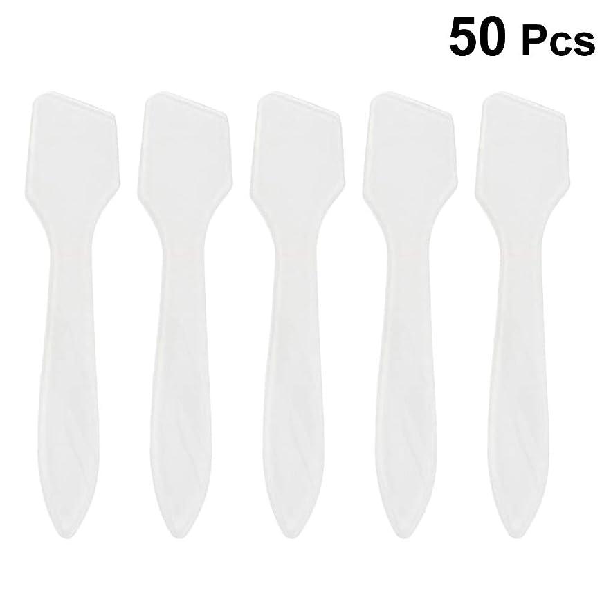 くびれた付属品首SUPVOX 50ピース化粧品スキンケアフェイスクリームマスク混合ヘラアプリケータツール