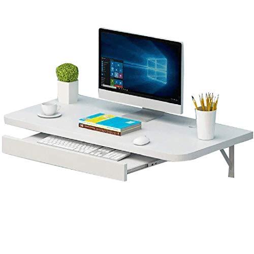 Mesa Plegable Montado en la pared del escritorio del ordenador con una bandeja anfitrión, tabla plegable del escritorio del ordenador portátil de la pared infantil Mesa de estudio teórico Inicio del e