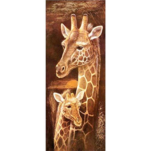 ParNarZar Groß Diamond Painting Set Giraffe 5D Diamant Painting Set Full Stickerei Bilder DIY Diamonds Malerei 40x105cm