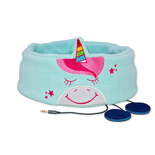 Snuggly Rascals (v.2) Kinder-Kopfhörer, Ultra-bequem, größenverstellbar und mit begrenzter Lautstärke (Baumwolle, Einhorn)