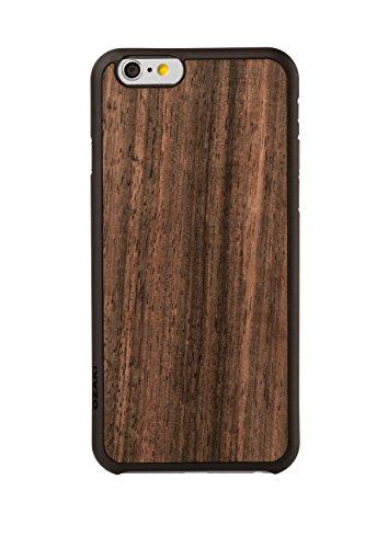 Ozaki OC556EB 0.3 Wood luxuriöse dünne Schutzhülle mit Holzrückseite inkl. Displayschutzfolie für Apple iPhone 6 / 6S ebony