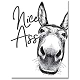 Odtis Nizza Arsch Badezimmer drucken lustige Zeichen Dekor