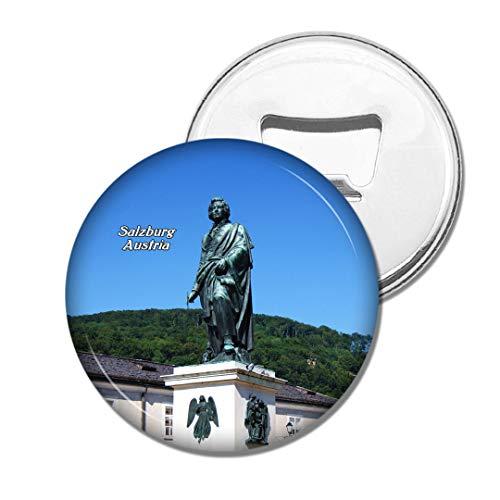 Weekino Österreich Mozart Denkmal Salzburg Bier Flaschenöffner Kühlschrank Magnet Metall Souvenir Reise Gift