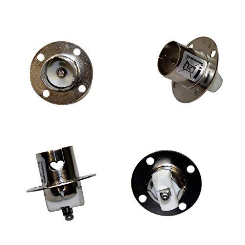 4 pièces Douille BA15s: Douille volante pour ampoule BA15s - Culot pour ampoule BAs-15, ronde avec 1 vis pour fixage - Idéal pour ampoule LED