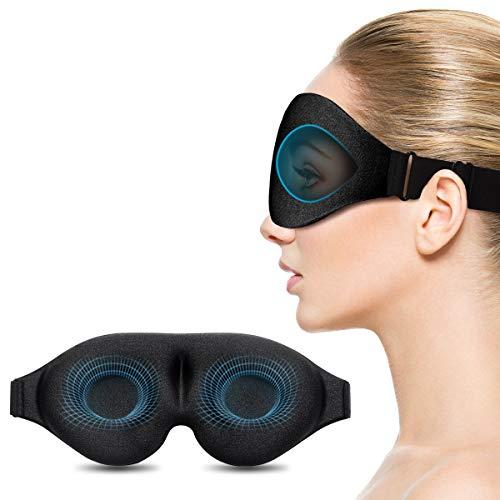 Schlafmaske, Unimi verbesserte 3D konturierte schlafbrille & Augenmaske, 100{7a910fc858e4a034b30788c0eb3c47c238a6b282365fa435b196e05919c87b80} lichtblockierende hlafbrille für Frauen und Männer, Augenbinde zum Schlafen, für Reisen, Yoga und Meditation