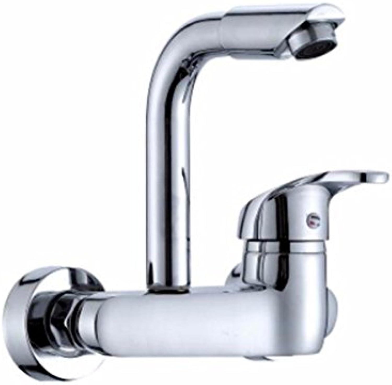 NewBorn Faucet Küche oder Badezimmer Waschbecken Mischbatterie für die Wand kalt Wasserhhne voll Kupfer Leitungswasser Spülen Waschbecken Wscheservice Pool Terrasse und Zum Pool führt Ein