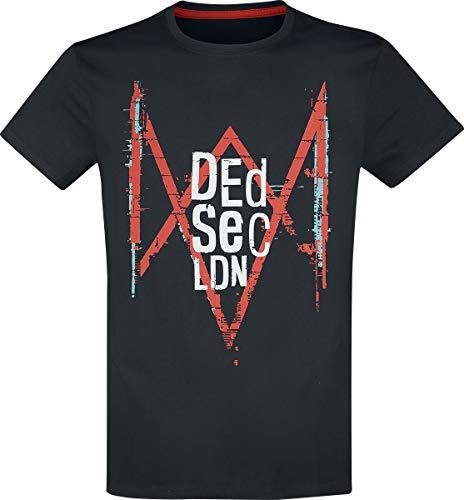 Preisvergleich Produktbild Watch Dogs Legion - Dedsec LDN Männer T-Shirt schwarz L 100% Baumwolle Fan-Merch,  Gaming,  Ubisoft