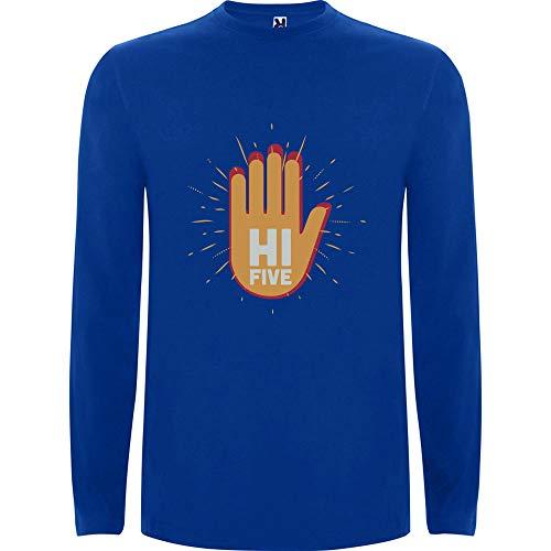 Lilij mannen t-Shirt lange mouw Hi vijf handen omhoog Stop Gun Cool Sweatshirt City Style Urban