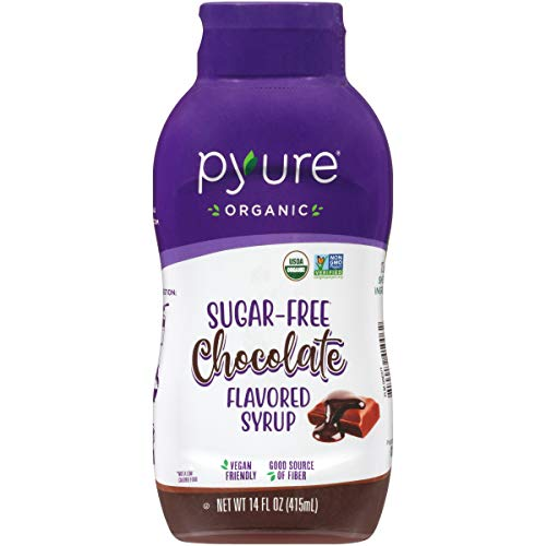 Organic Chocolate Flavored Syrup By Pyure   Sugar-Free, Keto, 1 Net Carb   14 Fl. Oz
