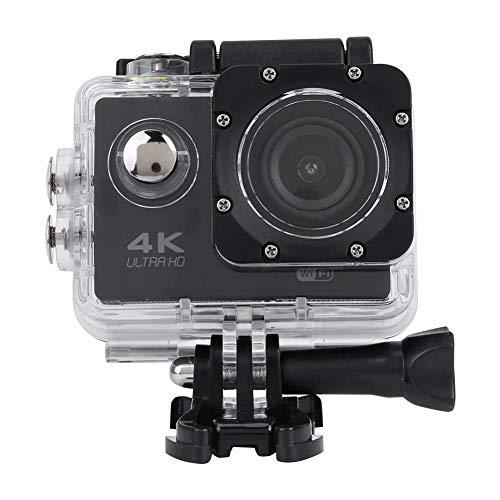 Keenso Actiecamera, sportcamera, WiFi, buiten-camera, 4 K HD, 2 inch, waterdicht, met beschermclip voor rugzakaccessoires