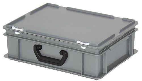 Preisvergleich Produktbild Kunststoffkoffer / Gerätekoffer,  Industriequalität,  grau,  LxBxH 400 x 300 x 130 mm