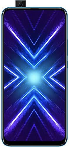 HONOR 9X Phantom Blue - Smartphone Bundle (6,59 Zoll Display, 128 + 4 GB) + 48MP AI Triple-Kamera + 16MP Pop-up Frontkamera + gratis HONOR Classic Earphones [Exklusiv bei Amazon] – Deutsche Version