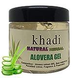 Khadi Herbal Natural Aloevera Gel for Skin and Hair, 180 g (White)