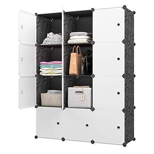 KOUSI Large Cube Storage -14x18 Depth 12 Cubes Organizer Shelves Clothes Dresser Closet Storage Organizer Cabinet Shelving Bookshelf Toy Organizer
