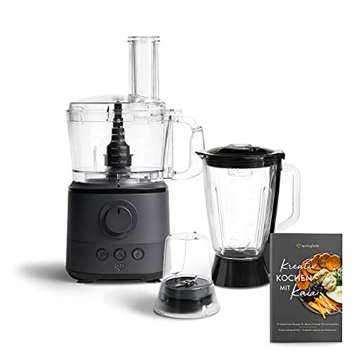 Robot de Cuisine Multifonction Kaia 1000W, 1.5L, 18.000 t/min - Anthracite